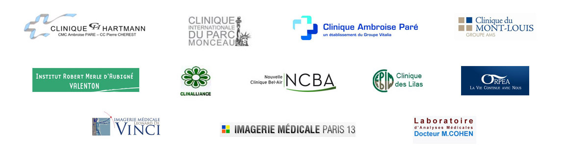 C3Medical, Our major partners Medical structures